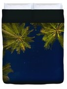 Stars At Night With Palm Tree Thalpe Duvet Cover