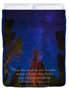 Stars Light Star Bright Fine Art Photography Prints And Inspirational Note Cards Duvet Cover
