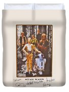 Stars Wars Autographed Movie Poster Duvet Cover
