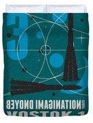 Starschips 03-poststamp - Vostok Duvet Cover by Chungkong Art