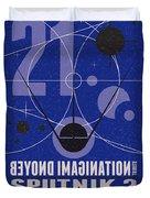 Starschips 21- Poststamp - Sputnik 2 Duvet Cover