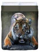 Startled Tiger Duvet Cover