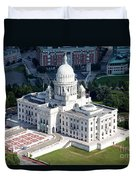 State Capitol Buildng Providence Rhode Island Duvet Cover
