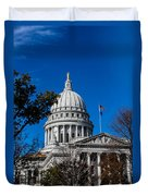 State Capitol In Madison Wi Duvet Cover
