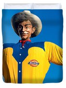 State Fair Of Texas Big Tex Yellow Duvet Cover