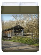 State Line Or Bebb Park Covered Bridge Duvet Cover by Jack R Perry