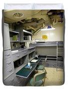 State Room Aboard Battleship Uss Duvet Cover