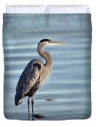 Stately-great Blue Heron Duvet Cover