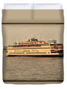 Staten Island Ferry Duvet Cover