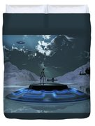 Station 211 Alien Nazi Base Located Duvet Cover