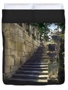 Statue And Stairs Duvet Cover
