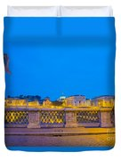 Statue And Street Lamp Duvet Cover