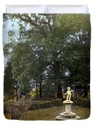Statue And Tree Duvet Cover