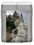 Statue At Biltmore Estate Duvet Cover