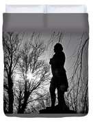 Statue At Dusk Duvet Cover
