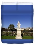 Statue At The Jardin Des Tuileries In Paris France Duvet Cover