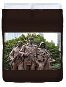 Statue Depicting Glory Of Chinese Communist Party Shanghai China Duvet Cover