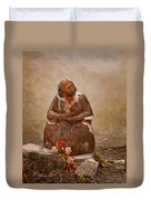 Statue From Mission San Juan Capistrano Duvet Cover
