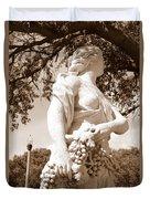 Statue In St Petersburg Duvet Cover