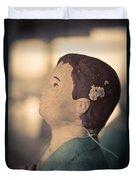 Statue Of A Boy Praying Duvet Cover