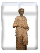 Statue Of A Roman Priest Wearing A Toga Duvet Cover