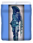 Statue Of An Old Revolutionary Cuban Duvet Cover