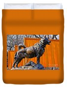 Statue Of Balto In Nyc Central Park Duvet Cover