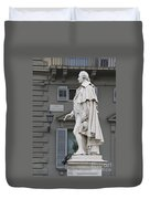 Statue Of Carlo Goldoni Duvet Cover