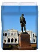 Statue Of Gregory Outside National Museum Colombo Sri Lanka Duvet Cover