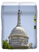 Statue Of Justice On Top Of New York City Hall Duvet Cover