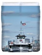 Statue Of Liberty Ferry Duvet Cover