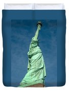 Statue Of Liberty Hdr Duvet Cover