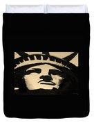 Statue Of Liberty In Dark Sepia Duvet Cover