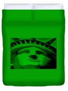 Statue Of Liberty In Green Duvet Cover