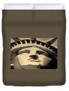Statue Of Liberty In Sepia Duvet Cover