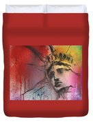 Statue Of Liberty New York Painting Duvet Cover