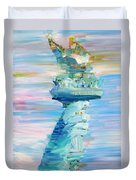 Statue Of Liberty - The Torch Duvet Cover