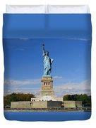 Statue Of Liberty Tourism Duvet Cover
