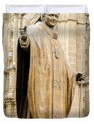 Statue Of Pope John Paul II Duvet Cover