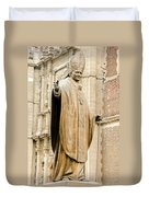 Statue Of Pope John Paul II Duvet Cover