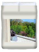 Statue Of President Lincoln Duvet Cover