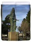 Statue Of Saint Clare Santa Clara Calfiornia Duvet Cover