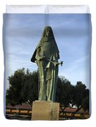 Statue Of Saint Clare Santa Clara California Duvet Cover