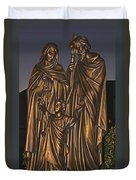 Statue Of The Holy Family  Duvet Cover