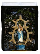 statue of the Virgin Mary in Granada Nicaragua Duvet Cover