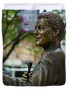 Statue Of Us President Bill Clinton Duvet Cover