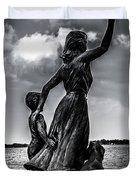 Statue St Clair Mi Duvet Cover