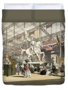 Statues In The Belgium Section Duvet Cover