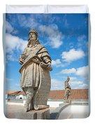 Statues Of Prophets Duvet Cover
