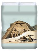 Statues Of Rameses Duvet Cover